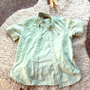 Ralph Lauren Sport Green Collared Shirt